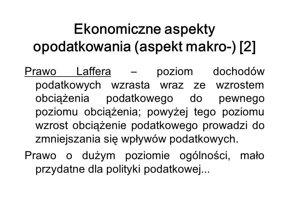 Ekonomiczne aspekty opodatkowania (aspekt makro-) [2]